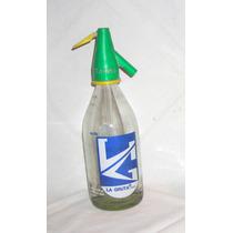 M12 Vieja Botella Sifon Chico Publicidad La Gruta