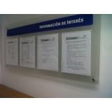 Cartelera Fiscal O Informativa Acrilicas De 1.10x0.50