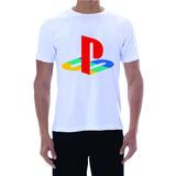 Camiseta Playstation Ps4 Ps3 Branca Sony Ps4 Neo Psp