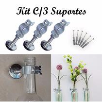 Suporte P/ Pendurar Vasos De Garrafas - Kit Com 3 Unidades
