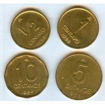Argentina Lote Monedas 1985 1/2 - 1 -5- 10 Ctvos.