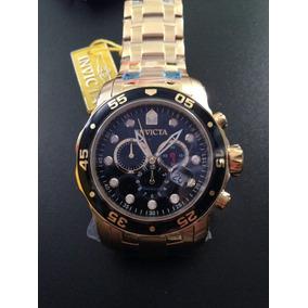Relogio Invicta Subaqua 0072 - Banhado A Ouro 18 K Diver A2
