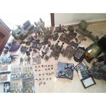 Colección Halo - Mega Blocks Spartans Flamas Lote Completo