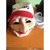 Disfraz Mascara Anciana Vieja Andadera Inflable Halloween