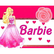 Kit Imprimible Barbie, Invitaciones Y Cajitas