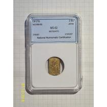 Japon 2 Bu Oro No Datada (1868-69) Encapsulada Certificada