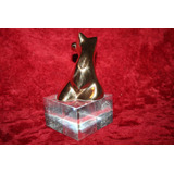 Escultura Bronce Torso De Mujer Jime Firmado Base Acrilico