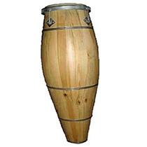 Atabaque Tradicional Claro Aro De Chapa 120 Cm 34120 Suporte