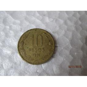 Moeda Republica De Chile, 10 Pesos, 1997