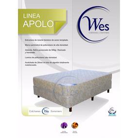 Colchon Y Sommier 1,40x1,90 Dos Plazas, Apolo, Wes Colchones