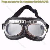Oculos Goggles Retro Aviador Cafe Racer Custom Bobber Harley