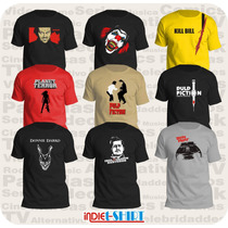 5 Playeras Escoger Cine Comics Rock Video Game Arte Parodia