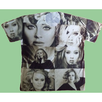 Camiseta Adele Estampada Preto E Branco Exclusiva