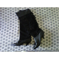 Botas Altas Para Dama Genuine Leather Upper Talla 8. Usadas.