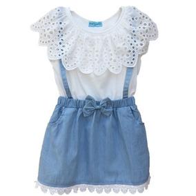 Vestido Infantil Jeans Menina