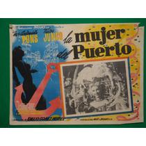 Maria Antonieta Pons La Mujer Del Puerto Orig Cartel De Cine