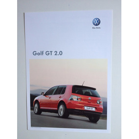 Folheto Simples Ficha Técnica Vw Golf Gt 2.0 Ano 2010