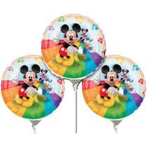 Balão Metalizado De Vareta Do Mickey. Kit Com 3 Balões