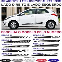Acessorios Faixa Lateral Hyundai Hb20 Sport Adesivos