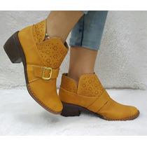 Zapato Tacón Bota Botin Texana Calzado Mujer Dama
