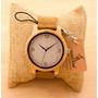 Relógio Unissex Bambu Madeira Analógico Bobo Bird + Único