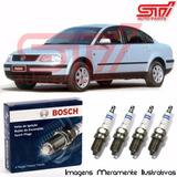 Jogo Vela Bosch Sp47 Passat 1.8 8v Alcool Gás Gnv 99cv