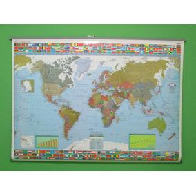 Mapa Planisferio Político 95 X 130 Simple Faz