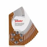 60 Pilhas Baterias Aparelho Auditivo Modelo 312 - Extrapower