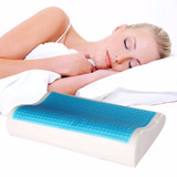 Almohada Memory Pillow Ortopedica Viscoelastica Gel + Funda