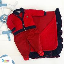 Kit Saida De Maternidade Bebê Menino Paraiso Vermelho 6632