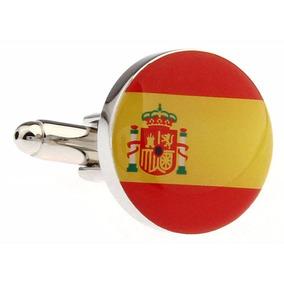 Mancuernillas Gemelos Bandera De España Mundial Pais