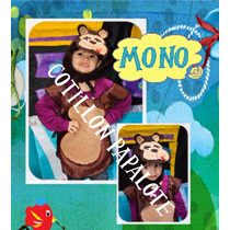 Disfraz Mono Animales Selva Acto Jardin Cebra Leon Tigre Oso