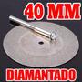 2 Discos De Corte Diamantados Para Mini Torno 40mm X2 Dremel