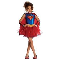 Disfraz Vestido Supergirl Tutu De Liga De La Justicia De Ni