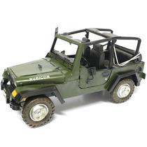 Miniatura De Jeep Guerra Mundial Metal 4x4 - 40 Cm