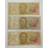 Billete Argentina 5 Australes Serie A Ideal Colección $25c/u