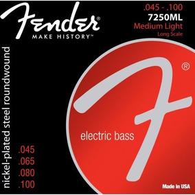 Encordoamento P/ Contrabaixo 7250ml 4 Cordas Aço 0.45 Fender