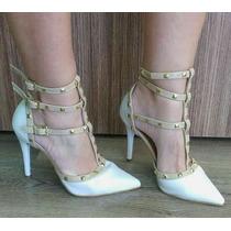 Sapatos Femininos Scarpin Spikes Atacado Grade Fechada