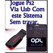 Memori Card + Opl Instalado + Pendrave Jogue Ps2 Pelo Usb