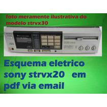Esquema Sony Str-vx20 Strvx20 Str-vx20bs Str20vxbs Str20vx