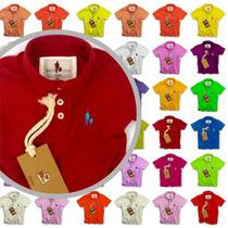 Kit 20 Camisas Polo Infantil, Atacado 100% Originais Cores