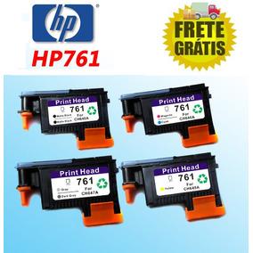 Kit Com 4 Cabeças De Impressão Plotter Hp T7100 Hp761 Hp 761