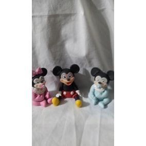 10 Souvenirs En Porcelana Fria Mickey, Sapo Pepe Y Otros...