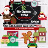 Kit Digital Imprimible Navidad Scrapbook Decoupage Imagenes