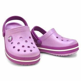 Crocs Crocband Iris Dhalia Lila Niñas Nenas Originales