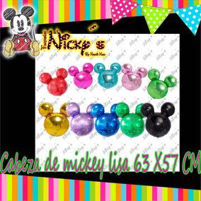 Globo Cabeza Silueta De Mickey De 63 X 57 Cm Lisa Original