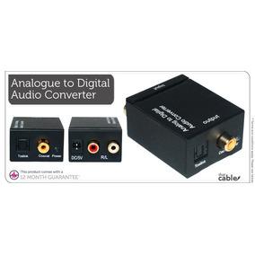 Conversor Audio De Rca A Optico Analogico A Digital +cables