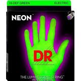 Cuerdas Dr Strings Verde Neon Guitarra 9-42 Envío Gratis