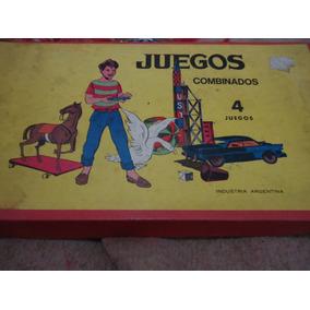 Antiguos 4 Juegos De Mesa Retro Nuevo De Los Años 50