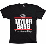 Camiseta Preta Hiphop Rap - Wiz Khalifa - Taylor Gang